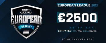 EEG European League 2021 Announcement