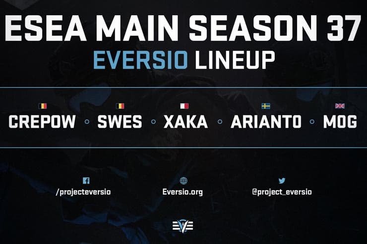 Eversio Sign m0g As 5th for CS:GO